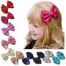 Kids Hair Clips Bow Hairband Turban Knot Hairpins Sequin Barrettes Enfeites De Cabelo Infantil #2989