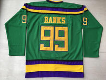 Adam Banks Mighty Ducks Movie Jersey Green 100% Stitched Sewn Throwback #99 Adam Banks Ice Hockey Jerseys S-XXXL Free Shipping