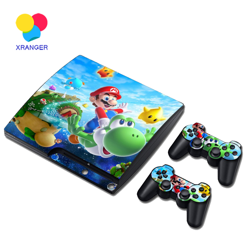 Mario Style Vinyl Skin Sticker for PS3 Slim and 2 Controller Controle Skins Stickers for Sony Plastation 3 Slim Game Accessories(China (Mainland))