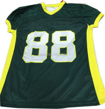 OEM Forest Green And Neon Yellow American Stylish Football Shirts