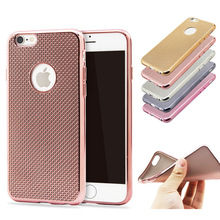 For iPhone 6 6S 6 plus 6S plus Ultra Slim Luxury Electroplating Crystal Soft Silicon Clear TPU Case Cover Cheap(China)