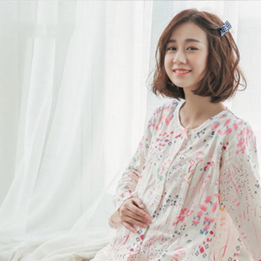 Summer Maternity Pajamas Set Pajamas Pregnancy Clothes Shirt Feeding Floral Cotton Pregnant Clothes Spring 70M0144<br>