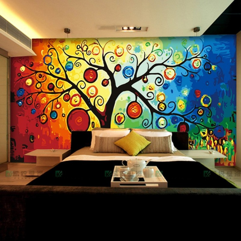 Europe abstract tree mural wall paper papier peint mural wallpaper roll bedroom living room sofa 3d photo wallpaper for walls 3d<br><br>Aliexpress