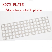 stainless steel plate Mechanical Keyboard for xd75re 60% custom keyboard Plate support xd75re(China)