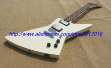 Hot ! customised electric guitar explore guitar white color chrome parts ,rosewood fingerboard!(China)