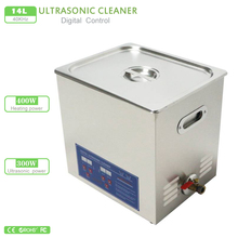 14L Digital Ultrasonic cleaner 110V 220V 300W timer & heater PS-50A hardware parts free basket commercial wash machine(China)