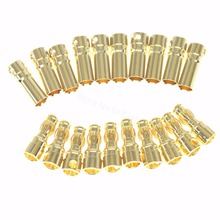 Wholesale 500Sets 3.5mm Gold Bullet Banana Connectors Female Male RC Models ESC Battery Pack Device Electric Motor Cable Wire(China)