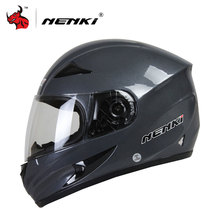 NENKI Black Frosted Men's Full Face Motocross Helmet Strong Resistance To Impact Of Off-road Helmets Motorcycle Helmet