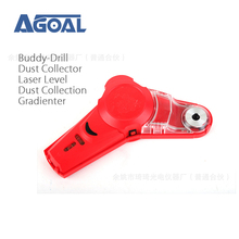 Buddy Drill Dust Collector with Laser Level-Cool DIY & Picture Hanging Tool Kit with Dust Collection System gradienter(China)