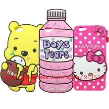 Hot Selling 3D Bottle Bear Cat Polka Dot Hello Kitty Silicone Cell Phone Case Cover For Oppo A59 F1s A59M