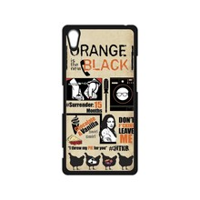 Orange Is the New Black Case for iPhone  4s 5s SE 5c  6s Plus Touch 5 SONY Xperia Z Z1 Z2 Z3 Z4 MINI M2 M4 C3 C4 C5 T2 T3