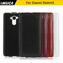 IMUCA For Xiaomi Redmi 4 Case redmi 4 Xiaomi Redmi 4 Pro Prime PU Leather Flip Phone Cover Cases Protective Cover Back Skin