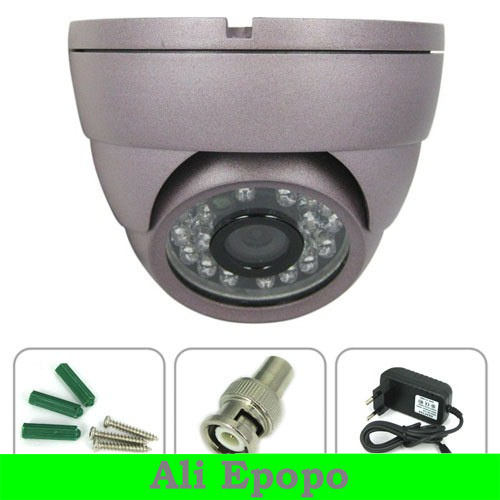 1/4 Sharp CCD Indoor 420 tvl  Dome CCTV Camera ,24pcs IR LED Night Vision Camera for Security Surveillance FREE SHIPING<br><br>Aliexpress
