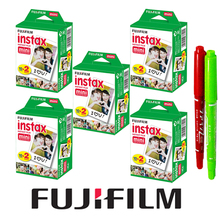 100 Sheet White Fujifilm Instax Mini 8 Films Paper Photo + Free Gift One Set Drawing Pens For Fujifilm Camera Mini 7s 25 50s 90