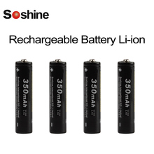 4pcs Soshine 3.7V 350mAh High Capacity 10440 Li-ion Rechargeable Battery AAA Battery for LED Flashlights Headlamps