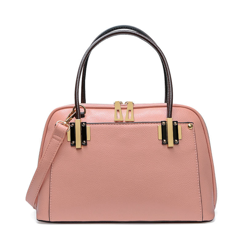 Litchi Pattern Handbag PU Leather Womens Bags Famous Brand Luxury Famous Brand Bolsas Shell Bag Shoulder Bags Fashion tote pink<br>
