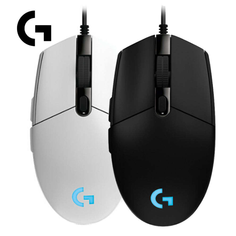 Logitech G102 IC PRODIGY 6000DPI PC Gamer 1000Hz Polling Rate 16.8M Color RGB Gaming Mouse Gamer - Black/White<br>
