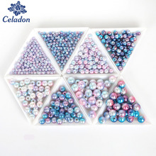 4/6/8/10mm Wholesale Round ABS Imitation Pearl Multi-size Mix Colors Beads for Jewelry DIY Craft Scrapbook Decorate 50-500Pcs(China)