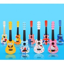 Early education toys Creative children's musical instruments present can play cartoon wooden guitar party gift(China)