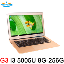 8GB Ram 256GB SSD Ultrathin Intel Dual Core i3 5005U Fast Running Windows 8.1 system Ultrabook Laptop Notebook Computer 13.3inch(China)