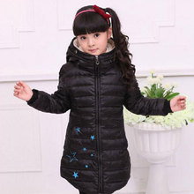 2016 winter girl's clothing long down jacket thick jacket outerwear,children's / kids casual sport coats for girls,free shipping