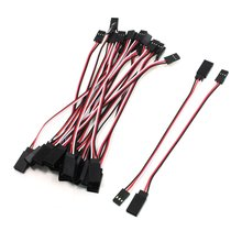 EBOYU(TM) 20 Pcs * 15cm 150mm Remote Control Female to Male Servo Extension Cable Lead