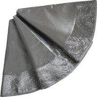 Black And Silver Christmas Tree Skirt