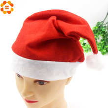 6PCS/Lot 2Sizes Christmas Santa Hat Red Hats For Christmas Decoration&Santa Claus Costume Christmas Party Supplies