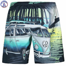 Mr.1991INC Quick Drying Beach Shorts Men Homme Board Summer New Style Fit Shorts Man Printing Bus Casual Stretch Board Casual