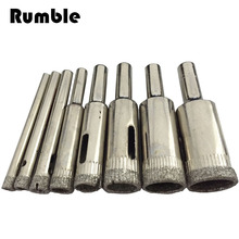 8 pcs/set 4mm 5mm 6mm 8mm 10mm 12mm 14mm 16mm Diamond Coated Core Hole Saw Drill Bit Set Tools For Tiles Marble Glass
