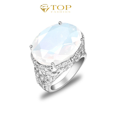 Top Jewelry Classic Moonstone aneis femininas brand rings for women engagement wedding rings jewelry R0141