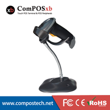 Compos Low Price OEM Laser Barcode Scanner Cheap Portable USB Port 1D Cable Reader Bar Code for POS System Supermarket