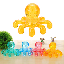 1PCS Handheld Octopus Massager Portable Crystal Massage For Relieving Neck Abdomen Back Muscle Pain Random color