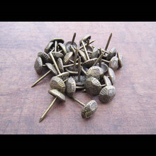 100pcs Antique Brass Upholstery Nail Jewelry Gift Wine Case Box Sofa Decorative Tack Stud Pushpin Doornail Hardware B 10x17mm