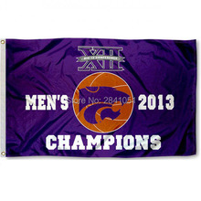 KSU Wildcats Big XII Basketball Champs House American Outdoor Indoor Baseball College Flag 3X5 Custom Any Flag