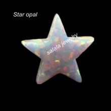 30pcs/lot Free Shipping 10mm Synthetic Drilled  White Star Fire Opal Stone for Opal Necklace & Pendant  Snow White Star Cut Opal