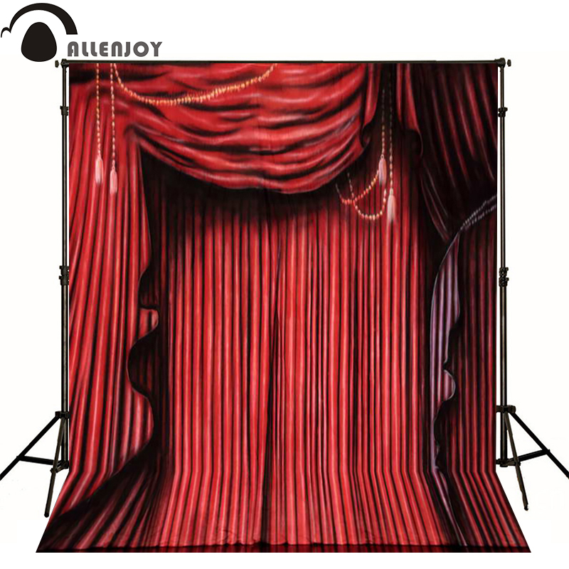 Allenjoy Photographic Background Red Curtain On Stage Photo Backdrops For  Sale Professional Fabric Vinyl Fotografie Achtergrond