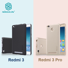 Nillkin mobile case for xiaomi redmi 3 matte PC hard plastic back cover case for xiaomi redmi 3 pro back cover+Screen Protector(China)