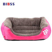 Cozy Soft Cute Pet Dog House Fabric Warm Cotton Pet Dog Beds for Cat Small Dogs Puppy Chihuahua Yorkshire Blue Rose Dog Baskets(China)