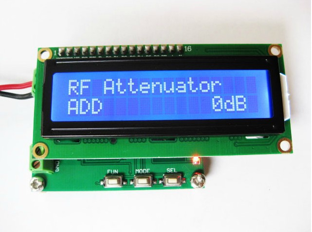 RF power meter, 0-500Mhz -80 ~ 10 dBm RF power attenuation value can be set<br>