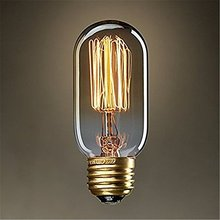 Lightinbox E27 G80/ A19/ T15 40W 220V Filament Light Bulb Vintage Retro Antique Style Edison Lamp (T15)