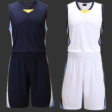 Blank Basketball Jersey Men Sports Suit Traning Shirt and Shorts Set Basketball Team Uniform Running Clothes
