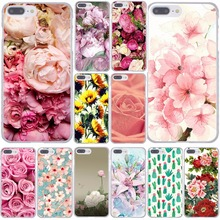 Peony Daisy Cactus Leaves Plants flowers Hard Case for iPhone 6 6S 7 Plus 5 5S SE 5C 4 4S Sunflowe Rose Plum Cherry Flower Cover