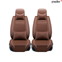 2 pcs Leather car seat covers For Daewoo Lanos Leganza Musso Nubira car accessories styling