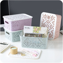 Multifunction Hollow Out Thick Rectangular Plastic Storage Baskets Kitchen Bathroom Desktop Storage Glove Box