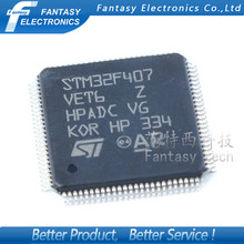 1PCS STM32F407VET6 LQFP100 STM32F407 QFP ARM  new and original IC free shipping