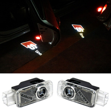 2 X LED Car Door Light Logo Projector Decorative Lamp For Audi A1 A3 A4 B6 B8 A6 C5 80 A7 Q3 Q5 Q7 TT S4 S5 S6 S7 RS 4 5 6 Sline