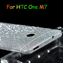 NEW!! Bling Glitter Shiny Crystal Diamond Full Body Front and Back Wrap Decal Film Sticker Skin For HTC One M7(China)