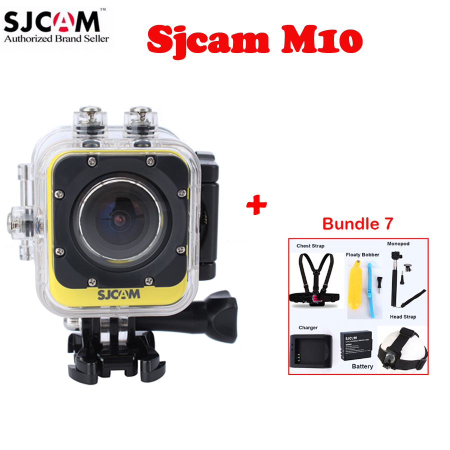 1.5 Original SJCAM M10 Portable Mini 30M Waterproof Sport Action HD Camera Sj M10 DV With Various Accessories<br><br>Aliexpress
