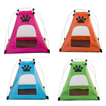 New Pet Dog Cat Net with Mosquito Breathable Mesh Kennel Cage Portable Small Animals House Nest Outdoor Traveling Puppy Cat Tent